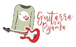 logo de guitarra en pijama
