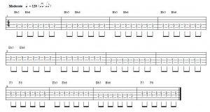 blues en sib acordes de shuffle para guitarra en 12 compases