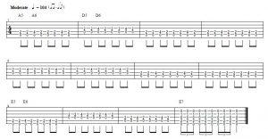 shuffle de blues en guitarra con variaciones acordes de guitarra