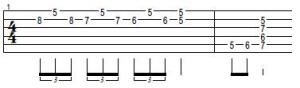 turnaround de blues para guitarra electrica acustica