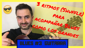 como tocar acordes shuffle de blues con guitarra sobre 12 compases