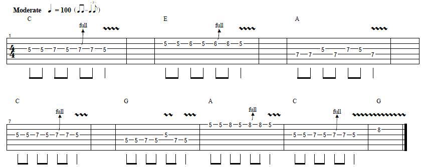 ejemplo 1 escala pentatonica